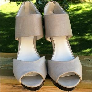 Expression Shoes - Nude Heels Sandals